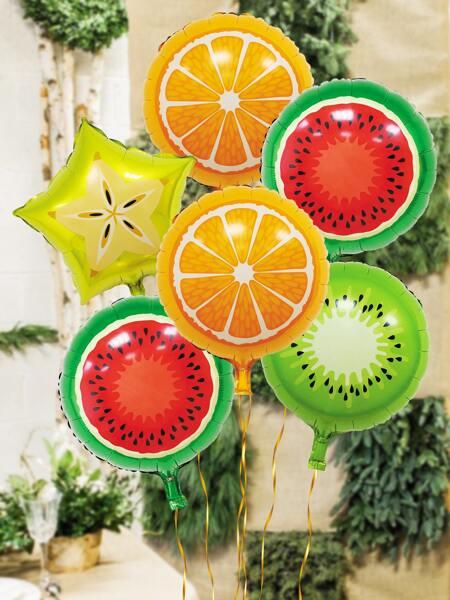 8pcs Fruit Print Balloon Set