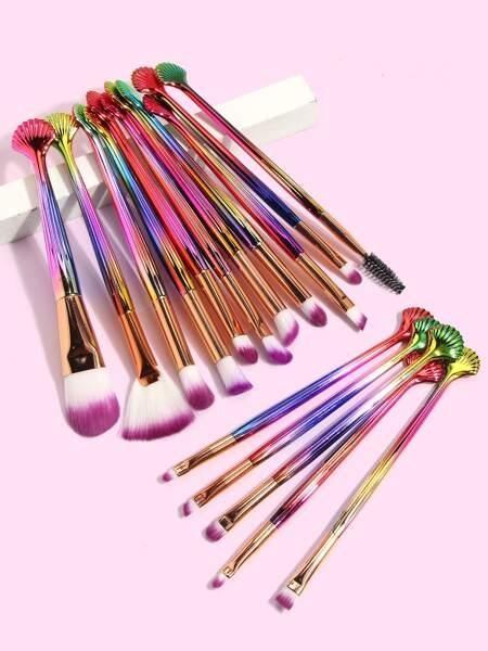 16pcs Seashell Design Makeup Brush Set