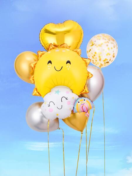 8pcs Sun Decoration Balloon Set