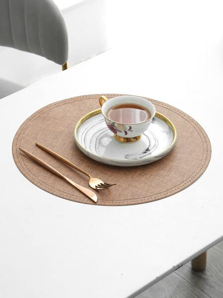 1pc Round Waterproof Placemat