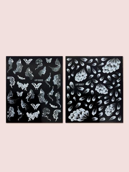 2sheets Butterfly Pattern Nail Art Sticker