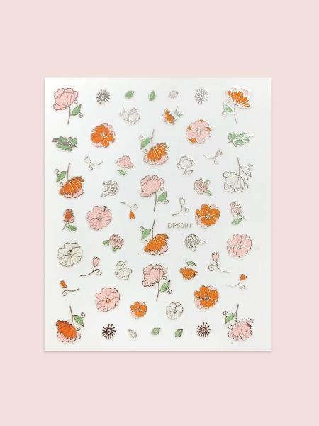 1sheet Flower Pattern Nail Art Sticker