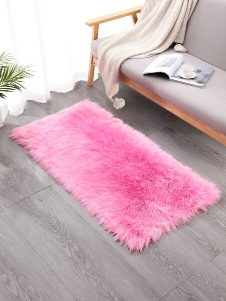 Solid Color Plush Rug