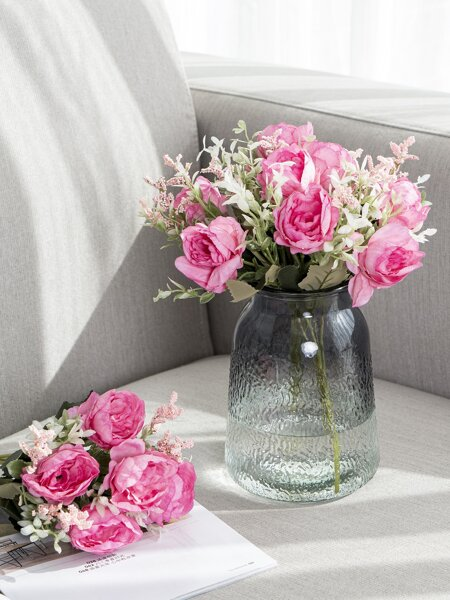 1bunch Artificial Peony With 5pcs Head