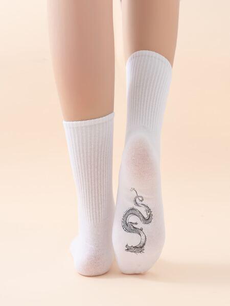 Chinese Dragon Pattern Socks