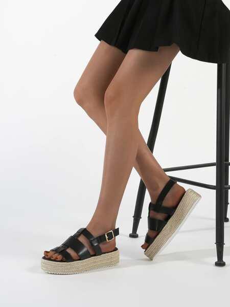 Minimalist Slingback Flatform Sandals