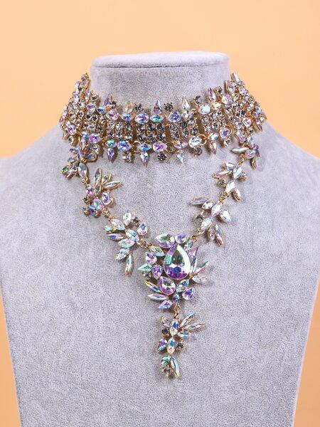 Gemstone Decor Layered Necklace