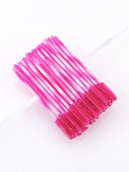 50pcs Two Tone Disposable Eyelash Brush