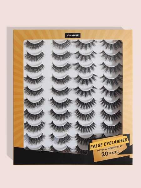 20pair Natural Volume Eyelash