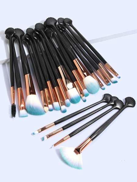 20pcs Shell Handle Makeup Brush Set
