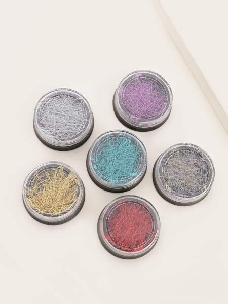 6boxes Random Color Nail Art Decoration