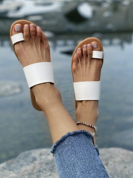 Toe Loop Flat Thong Sandals
