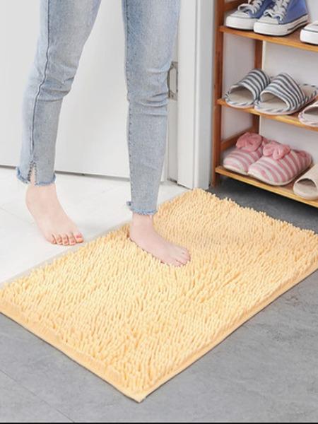 Solid Color Chenille Microfiber Floor Mat