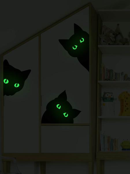 Cat Print Kids Glow Wall Sticker
