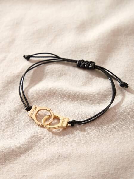 Handcuffs Braided Bracelet
