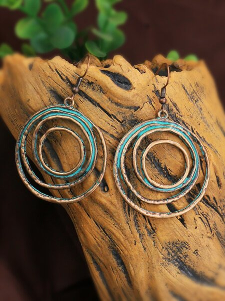 Hollow Out Round Drop Earrings
