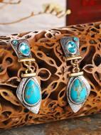Bohemian Turquoise Drop Earrings