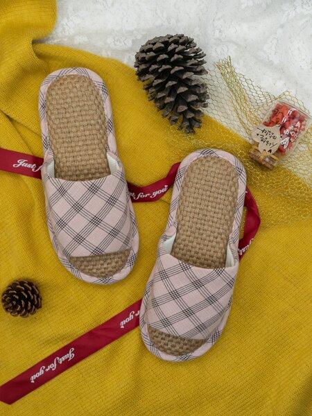 Geometric Print Open Toe Slippers
