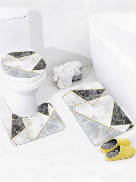 1pc Geometric Pattern Closestool Rug
