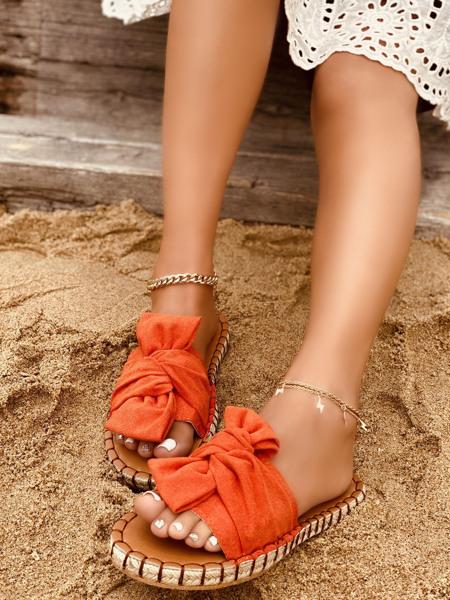 Suede Espadrille Heeled Slide Sandals