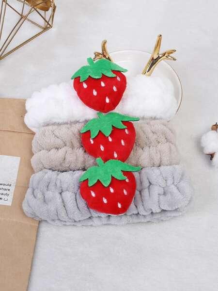 1pc Strawberry Decor Random Bath Headband