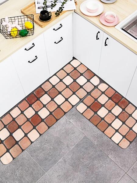 1pc Stone Design Kitchen Rug