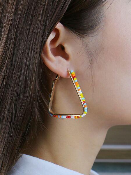 Colorful Bead Decor Hair Hoop