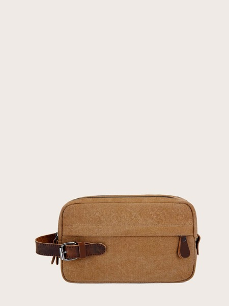 Double Layers Canvas Clutch Bag
