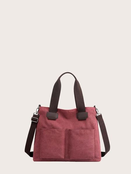 Large Capacity Canvas Shoulder Tote Bag