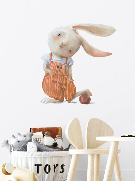 Rabbit Print Kids Wall Sticker