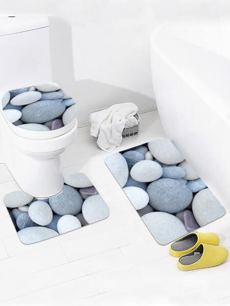 1pc Cobblestone Pattern Non-slip Bath Mat