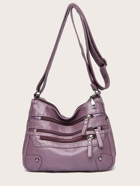 Minimalist Zipper Front Crossbody Bag