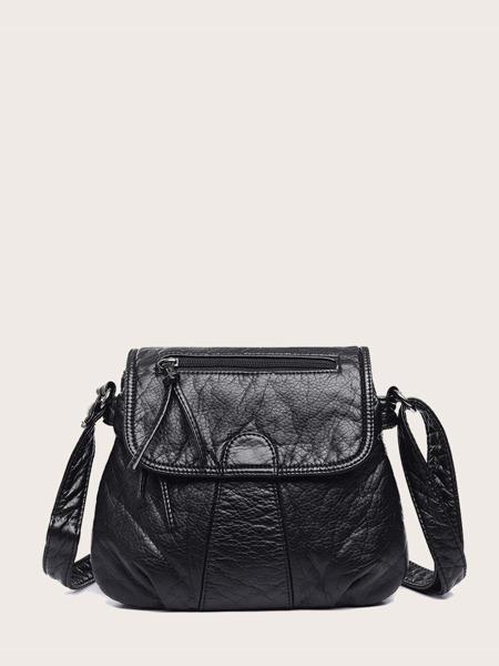 Knot Decor Flap Crossbody Bag