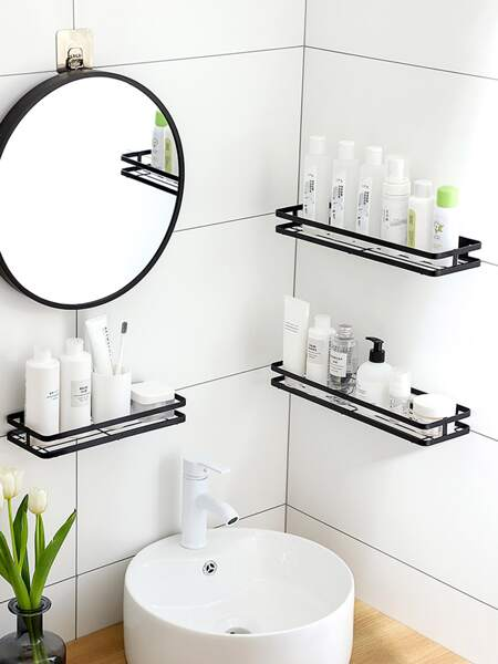 1pc Bathroom Wall Mounted Storage Rack