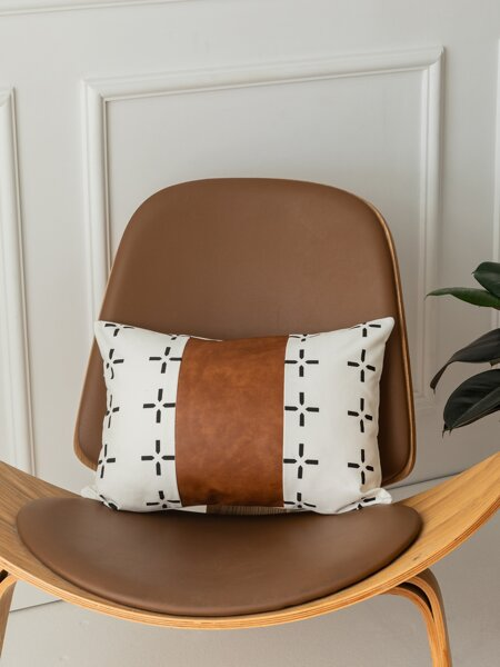 Graphic Print Lumbar Pillow Cover Without Filler