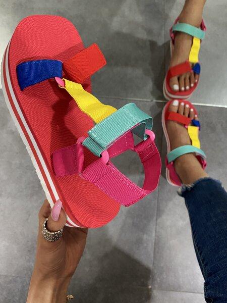 Color Block Sport Sandals