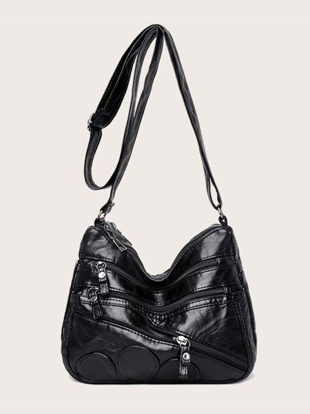 Zipper Front Crossbody Bag