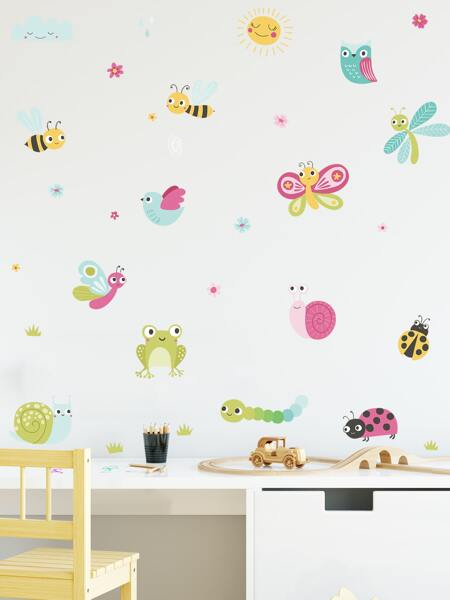 Kids Insect Print Wall Sticker