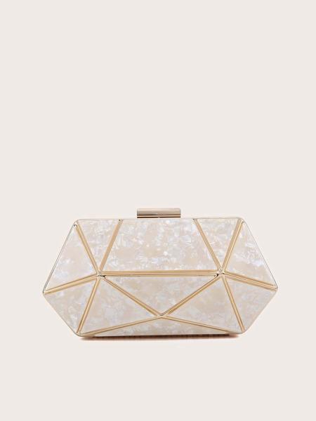 Marble Pattern Box Bag