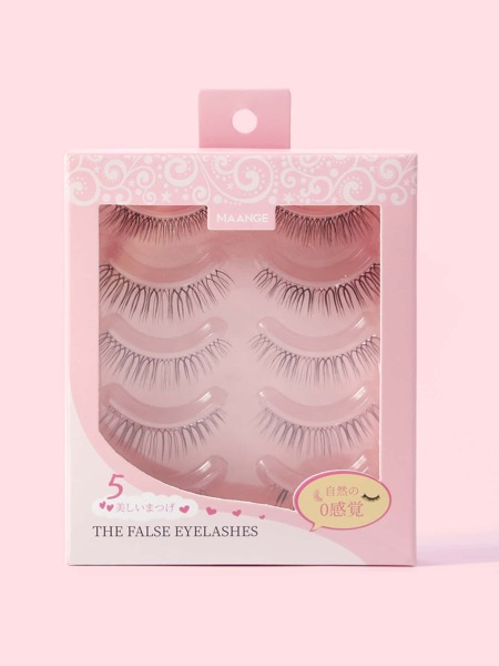 5pairs Pointed Cat Eye Lashes