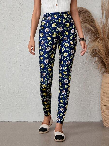 Allover Floral Print Leggings