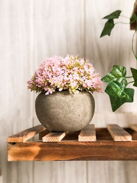 1pc Artificial Flower With Paper Vase