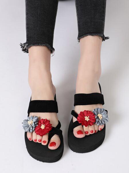 Floral Decor Flip Flops