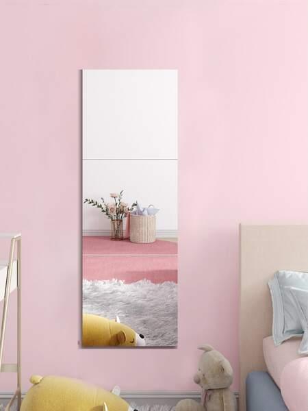 3pcs Mirror Surface Wall Sticker