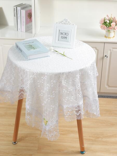 1pc Plain Lace Tablecloth