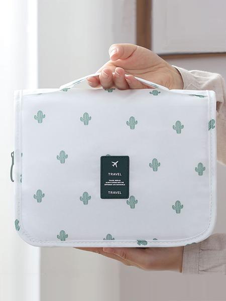 1pc Cactus Print Travel Toiletries Bag