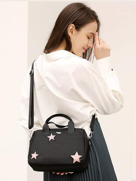 Star Embroidered Tote Bag