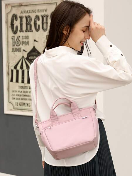 Top Handle Nylon Tote Bag