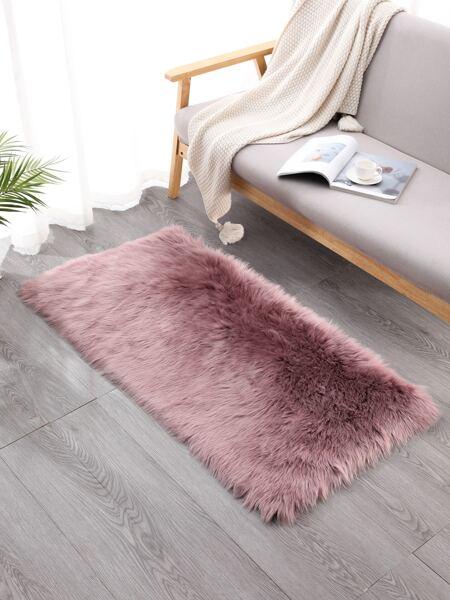 1pc Solid Color Plush Carpet