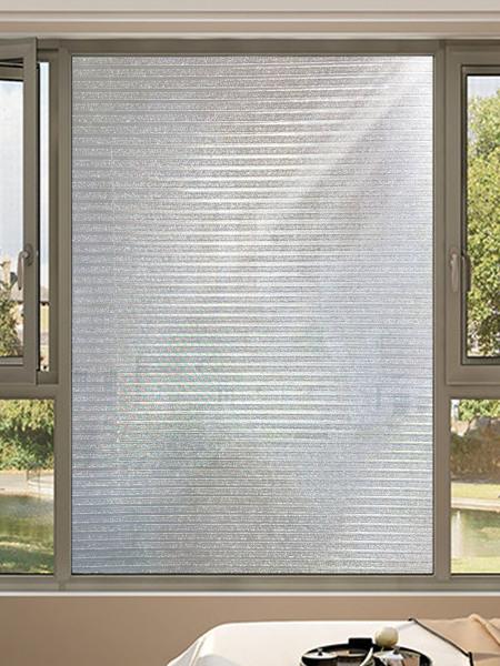 1pc Striped Pattern Window Privacy Sticker